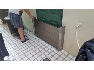 台南住宅後門防水閘門安裝